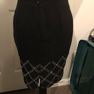 Black Skirt with Silver Studs